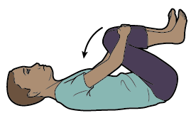 Figure 6. Knee to chest stretch
