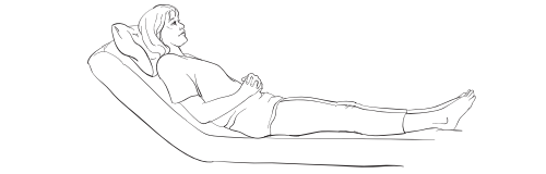 Figure 1. Sitting up at a 45-degree angle