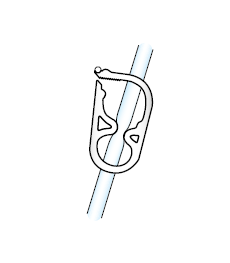 Figure 10. Unclamping the feeding tube
