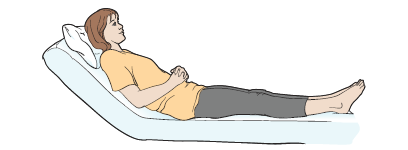 Figure 2. Sitting up at a 45-degree angle