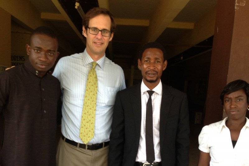 Peter Kingham with the African Research Group for Oncology Research Team