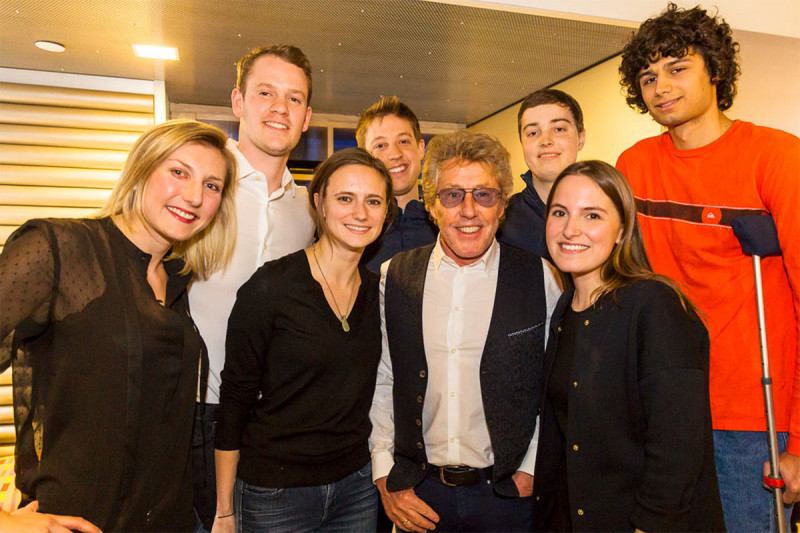 Teen and young adults patients with Roger Daltrey of The Who