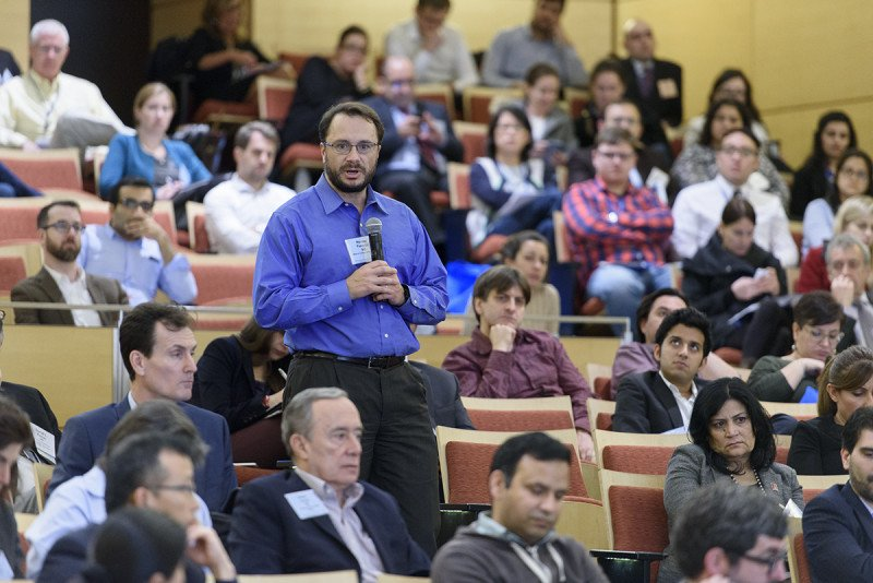 Hundreds of scientists attended the two-day symposium held at MSK's Zuckerman Auditorium.