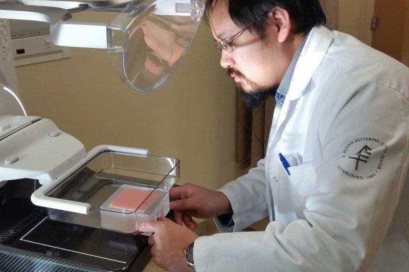 Dr. Edward Fung imaging an ACR Mammography phantom