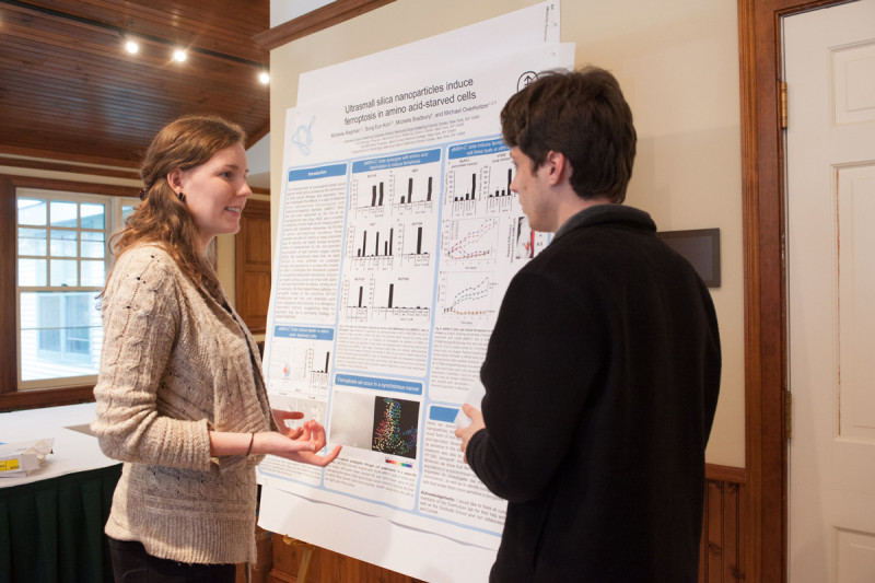 Second-year students Michelle Riegman and Jacob Boyer
