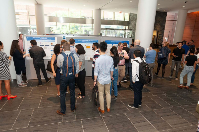 MSK staff, lab members, students' family & friends attend the Summer Student Poster Session