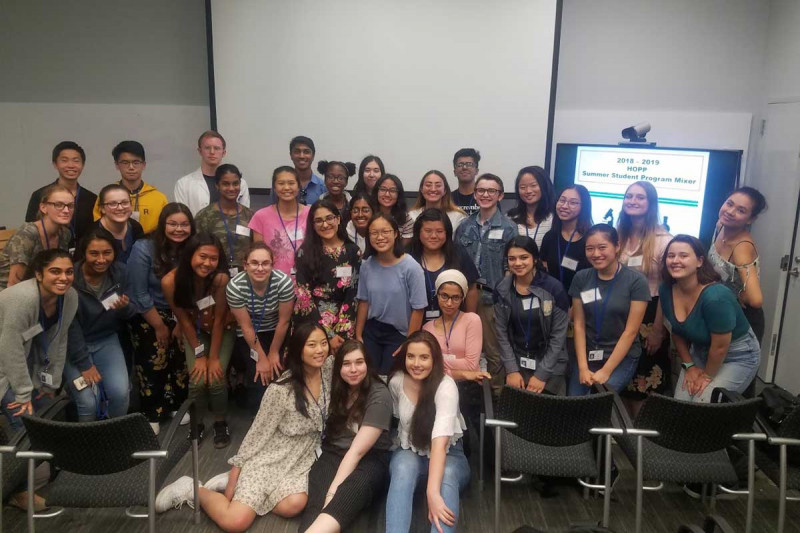 2018 and 2019 students attend HOPP Summer Student Program Mixer