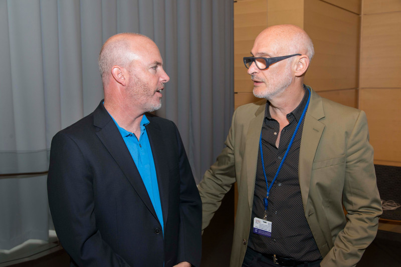 Dr. Rudensky with Dr. Barton of the University of California, Berkeley.