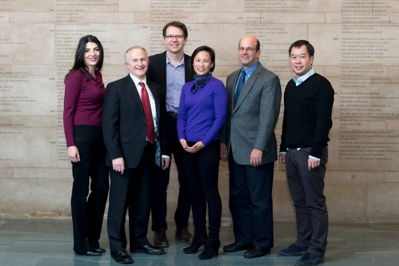 Center for Cell Engineering 2017 Retreat Speakers (from left to right) Katy Rezvani (University of Texas MD Anderson Cancer Center), Jeffrey Miller (University of Minnesota), Michel Sadelain, Katharine Hsu, Dan Kaufman (University of California San Diego), Joseph Sun.