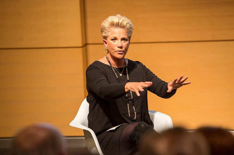 Joan Lunden, moderator and Award-winning Journalist and breast cancer survivor at CancerSmart: When A Parent Becomes A Patient, September 27, 2016. Source: Matthew Septimus.