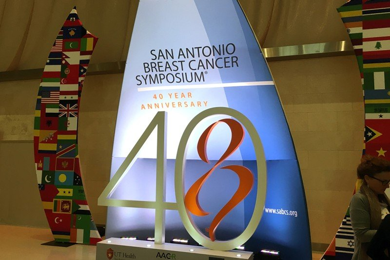 Welcome sign at the San Antonio Breast Cancer Symposium