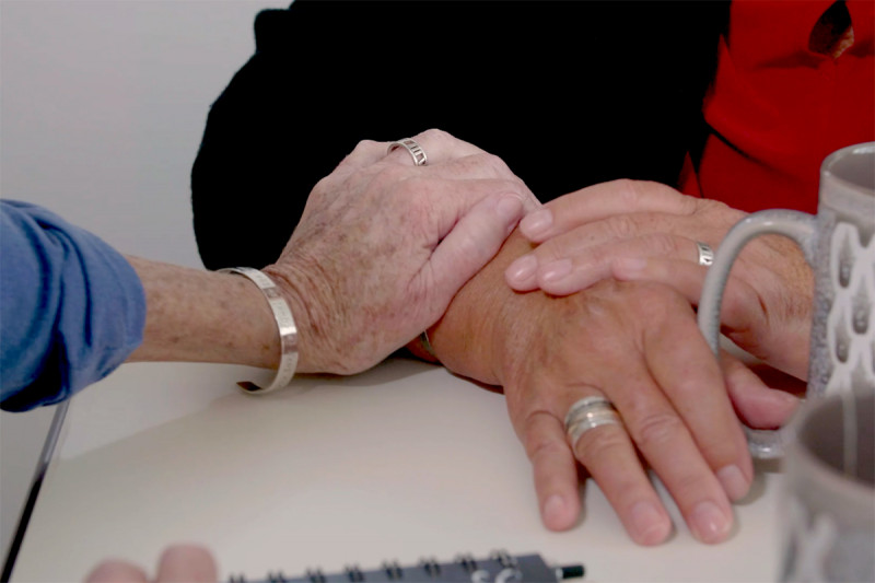 Watch experts and caregivers discuss coping with grief.