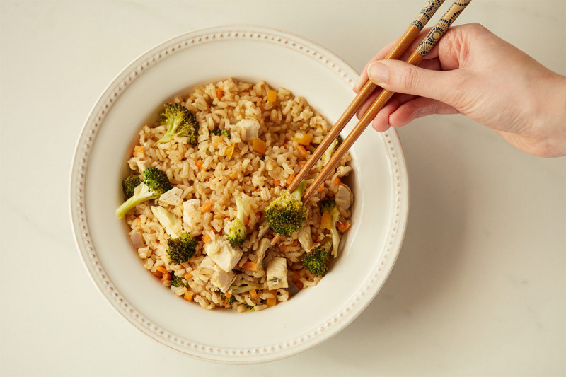 Brown Rice Stir Fry with Chicken