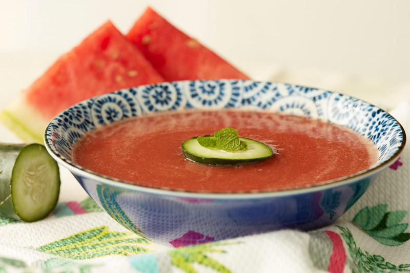 Watermelon and Mint Gazpacho