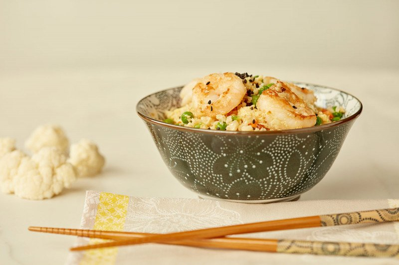 Low-Calorie Diet Guide - Cauliflower Shrimp Rice