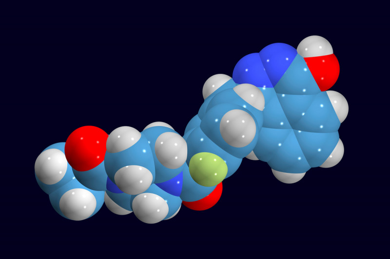 Molecular model of olaparib