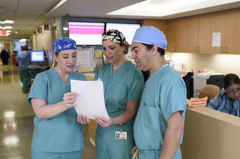 MSK gastroenterologists Emmy Ludwig, Robin Mendelsohn, and Hans Gerdes