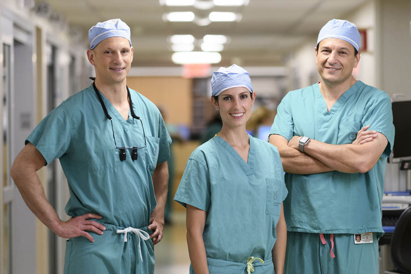 Memorial Sloan Kettering reconstructive surgeons Joseph Dayan, Michelle Coriddi, and Babak Mehrara.