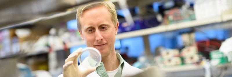 MSK chemical biologist Daniel Bachovchin in his laboratory