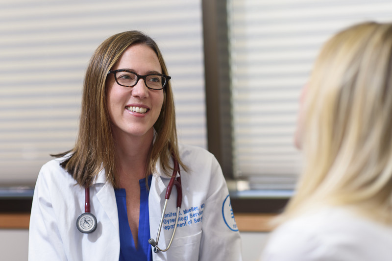 "Early menopause ""doesn't have to be universally terrifying or terrible,"" says MSK gynecologic surgeon Jennifer Mueller, above."