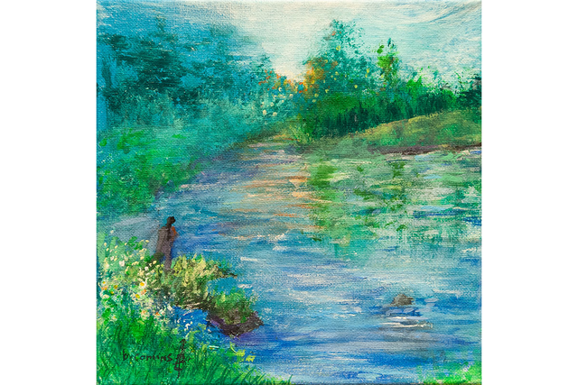 patient artwork depicting a river scene