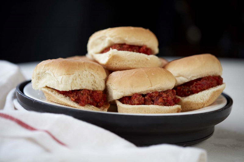 Sloppy Joe sliders made from turkey