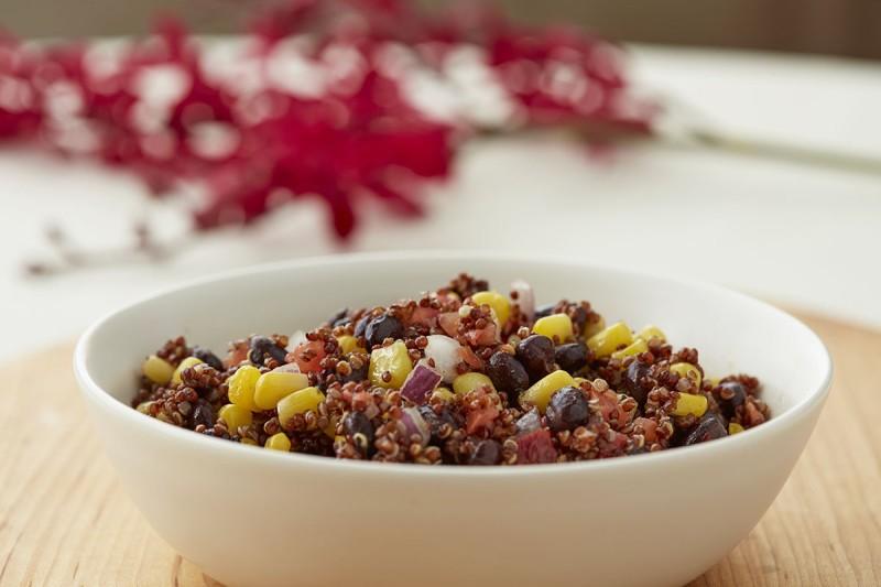 Black Beans, Corn, and Quinoa Salad