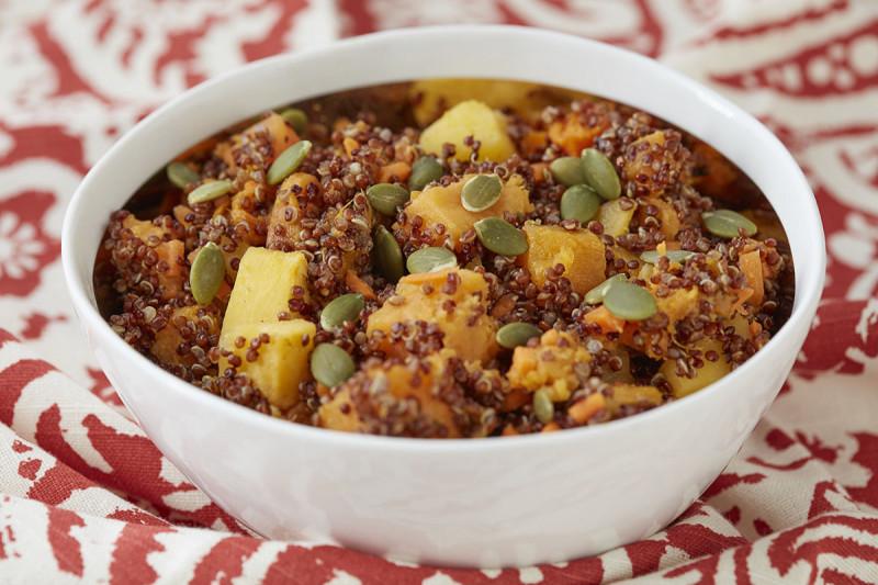 Quinoa salad with autumn vegetables