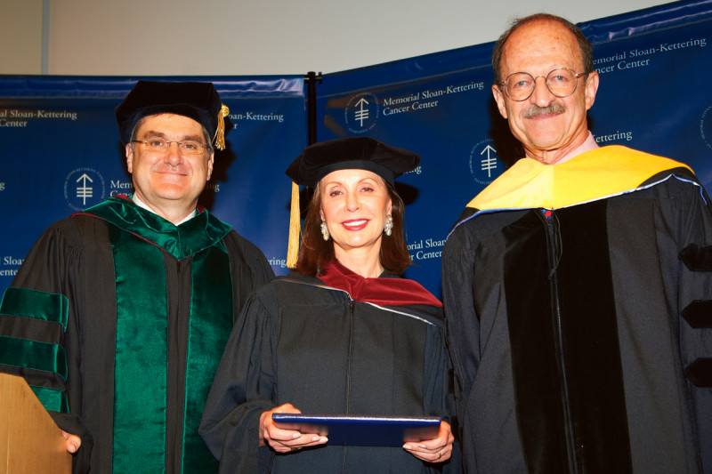 Pictured: Craig Thompson, Marie-Josée Kravis & Harold Varmus