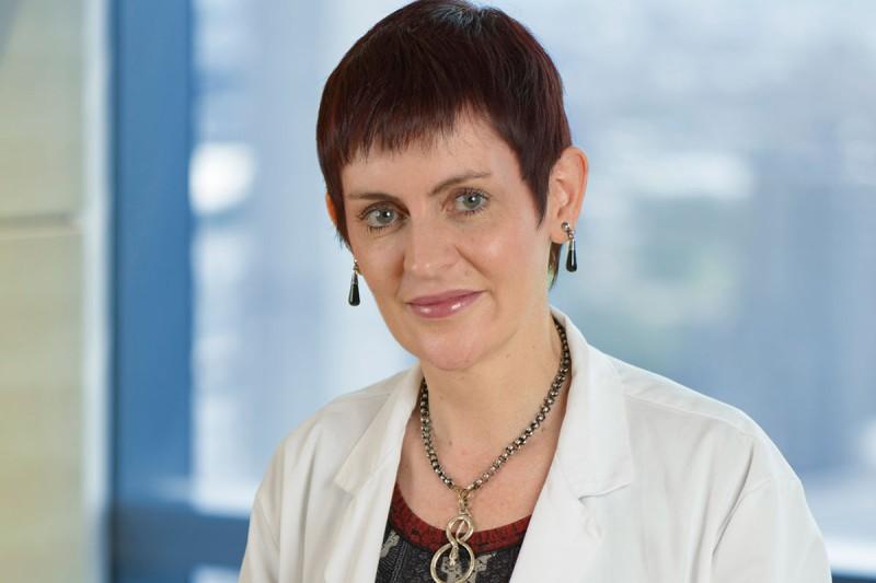 Hematologic oncologist Juliet Barker