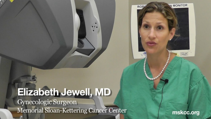 Gynecologic oncologist Elizabeth Jewell discusses the fluorescent dye surgical platform in sentinel lymph node mapping for cervical and endometrial cancer detection.