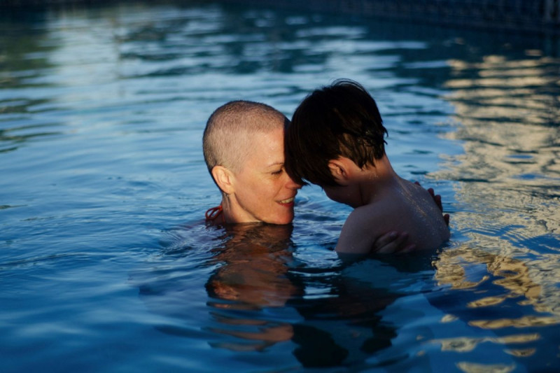 Memorial Sloan Kettering breast cancer patient Anna Rathkopf and her son Jesse