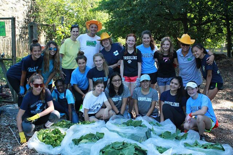 Green Bronx Machine founder Stephen Ritz and students