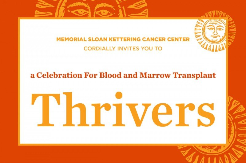 An invitation to a celebration for blood and marrow transplant thrivers