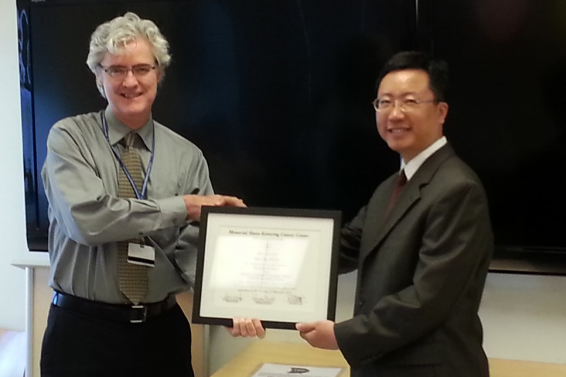 Pictuered: Dr. Joseph Deasy and Dr. Fan Liuand Dr. Fenghong Liu