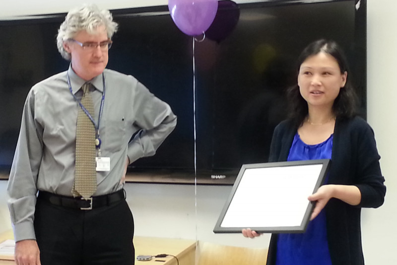 Pictuered: Dr. Joseph Deasy and Dr. Fenghong Liu