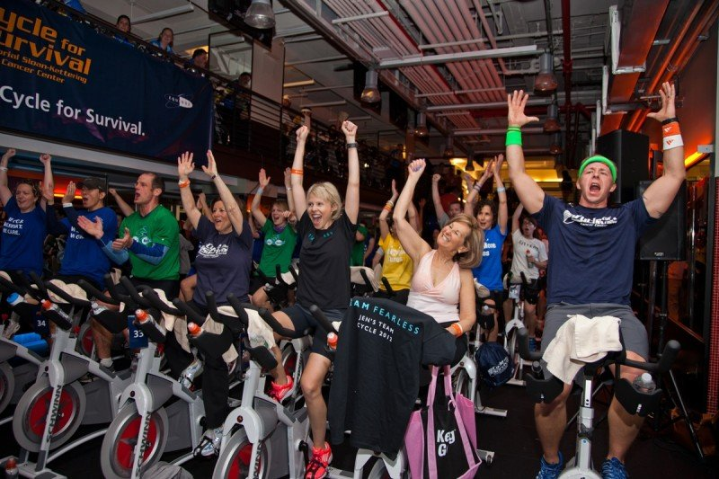 Pictured: Cycle for Survival