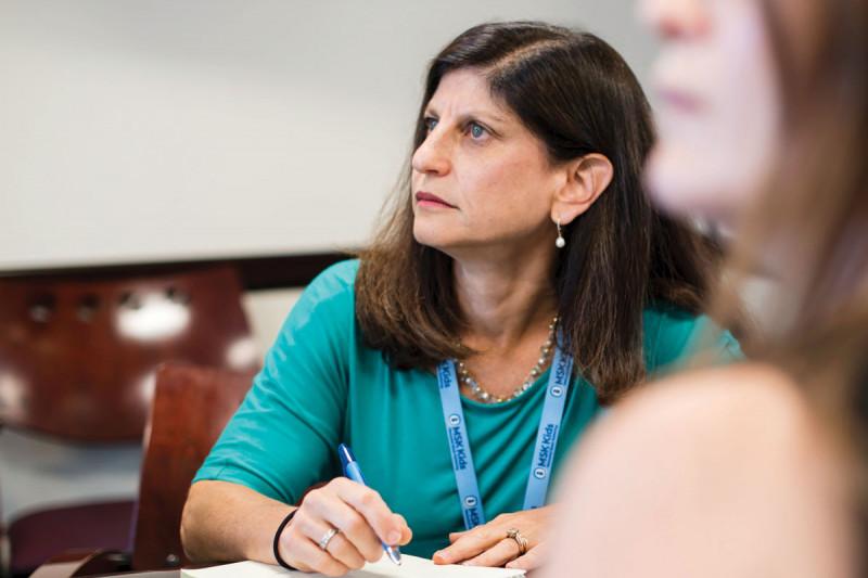 MSK Kids pediatric oncologist Julia Glade Bender