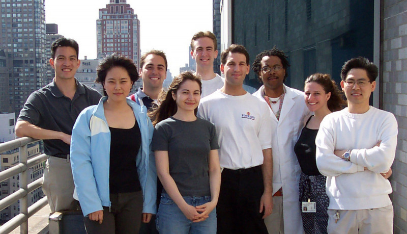 The Tan Group - May 20, 2003 -- (from l): Derek Tan, Shiying Shang, Jim Rogér, Sirkka Moilanen, Justin Potuzak, Dan Macks,