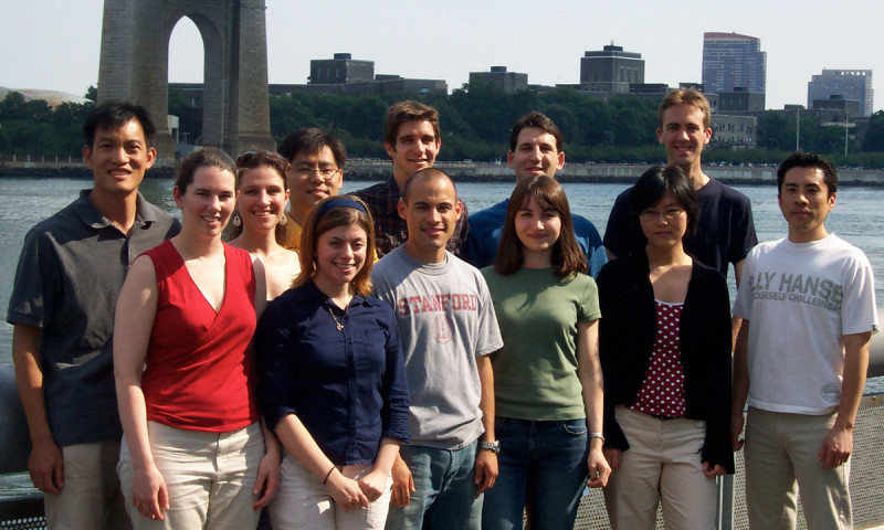 The Tan Group - August 2, 2005 -- (back row, from l): Derek Tan, Chris DiBlasi, Jae-Sang Ryu, Justin Cisar, Dan Macks, Justin Potuzak; (front row): Campbell Echols, Lisa Ambrosini, Renato Bauer, Sirkka Moilanen, Shiying Shang, Hayato Iwadare; (not pictured): Amrita Hazra, John Wallach.