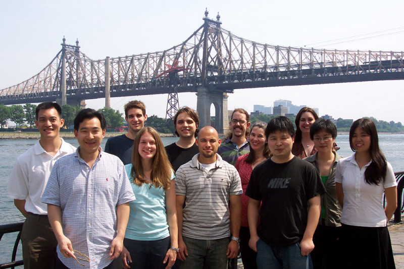 The Tan Group - June 8, 2007 -- (back row, from l): Derek Tan, Justin Cisar, Kory Byrns, Felix Kopp, Chris DiBlasi, Danielle Rose, Shiying Shang; (front row): Guodong Liu, Jackie Wurst, Renato Bauer, Xuequan Lu, and Susan Bai.