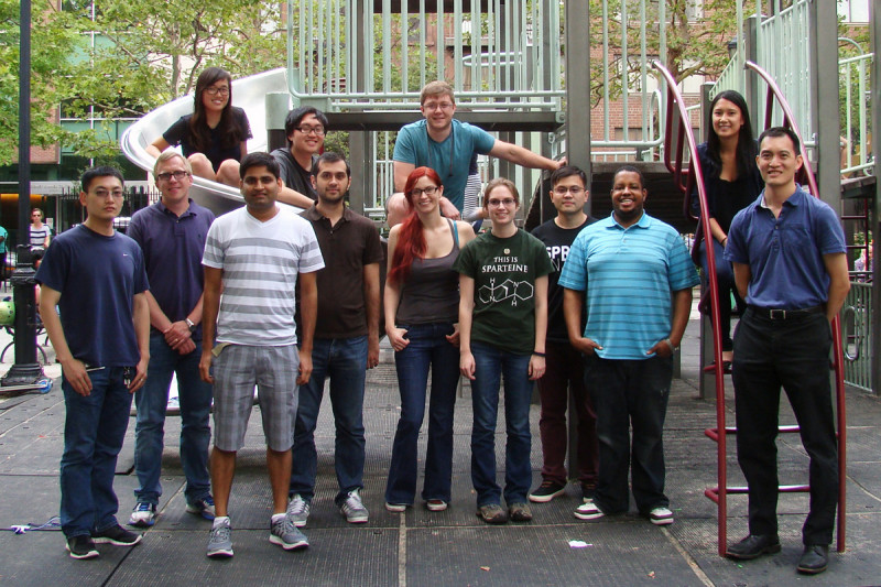 The Tan and Gin Groups – July 17, 2014 (from l): Cheng Ji, Josh Brooks, Eun Bin Go, Inder Sharma, Steven Pak, Rashad Karimov, Lisa Standke, Chris Evans, Michaelyn Lux, Bin Mao, Tony Davis, Alyssa Verano, Derek Tan.