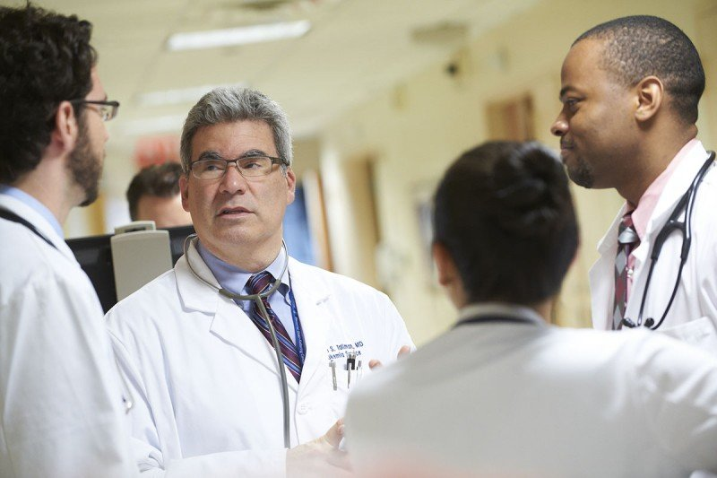 MSK's Martin Tallman speaks with his colleagues who treat blood-related cancers.