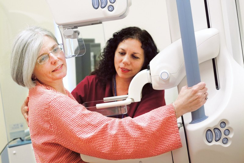 Pictured: Mammogram