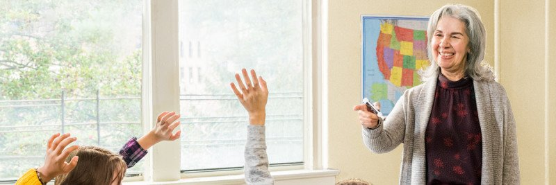 Elizabeth in classroom