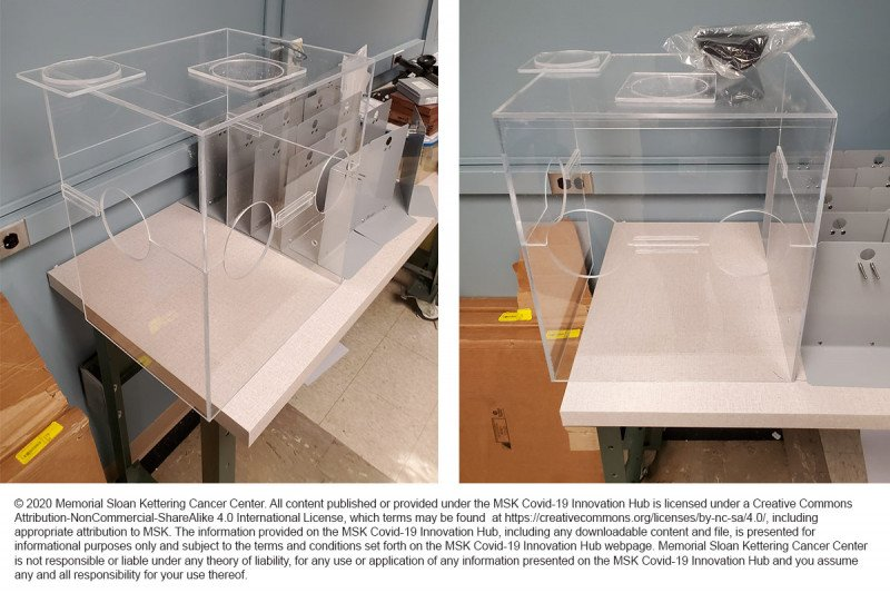 MSK's two-piece redesign of the intubation box