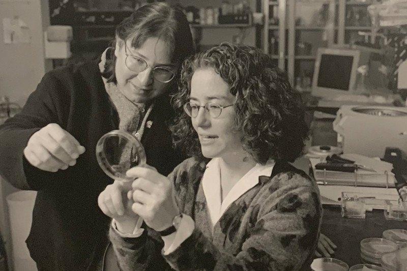 Archival photo of Maria Jasin and Mary Ellen Moynahan