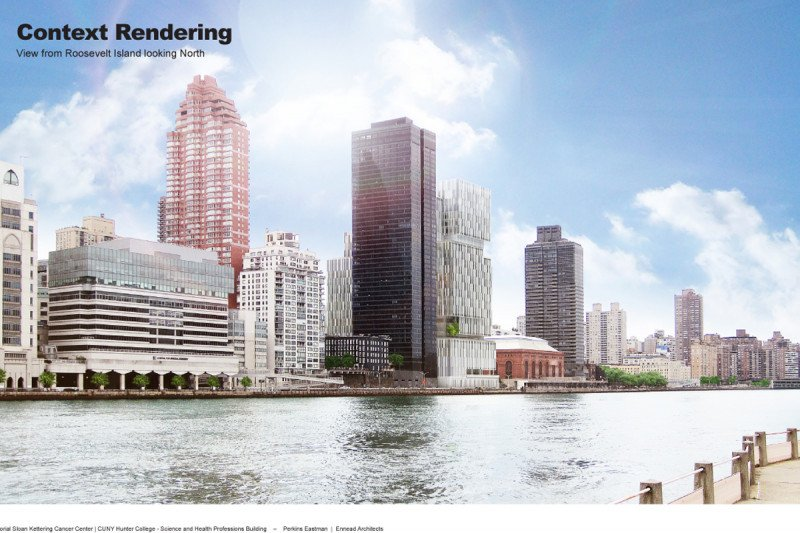 Rendering of Building Viewed from the East River