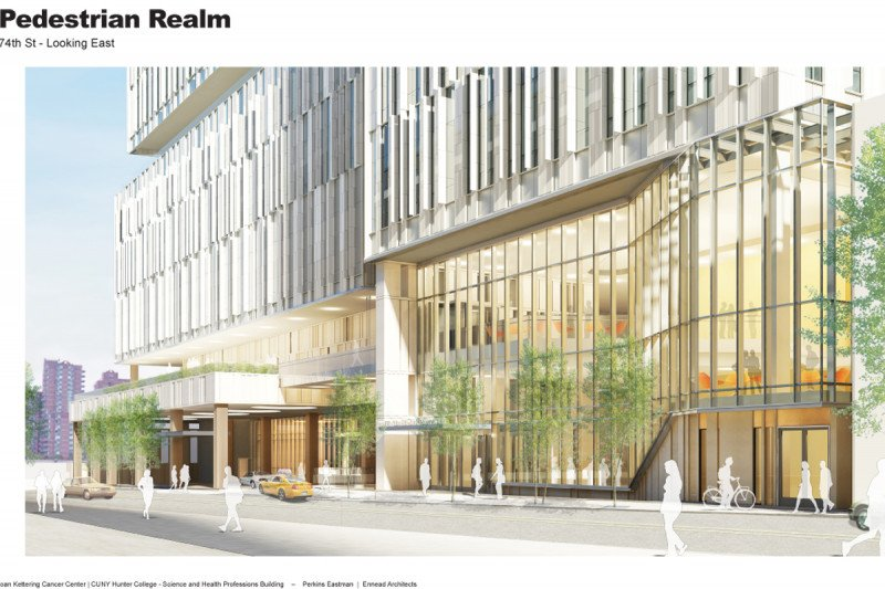 Street Level Rendering on 74th Street, Facing FDR Drive