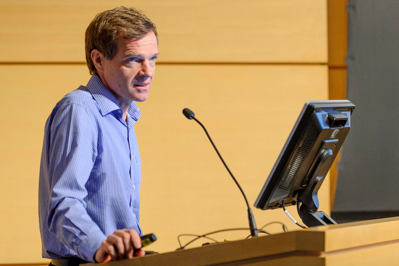 "Austin Smith of the University of Cambridge presents ""Design Principles of Pluripotency."""